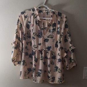 Floral babydoll style blouse